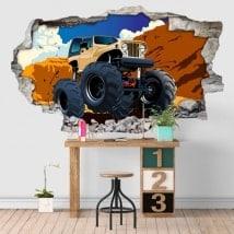 Vinyl adhesive 3D monster truck