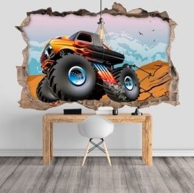 Wall stickers 3D bigfoot