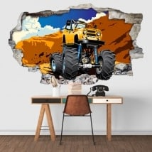 Wall stickers monster truck 3D