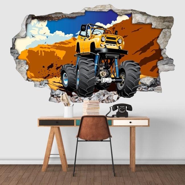 Wall stickers monster truck 3D