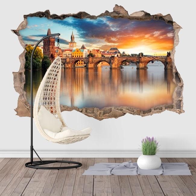 Wall stickers 3D Prague Charles Bridge