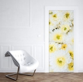 Stickers flowers for doors