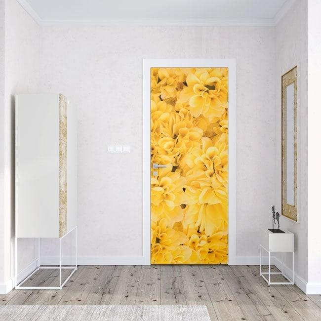 Flowers vinyl for doors