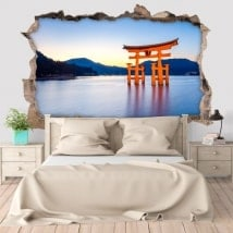 Wall stickers Torii 3D