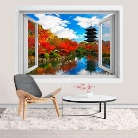 Windows 3D stickers Toji pagoda in Kyoto