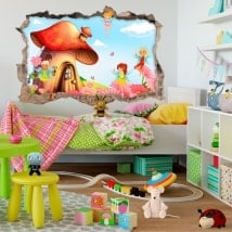 Children 3D stickers magical fairy world