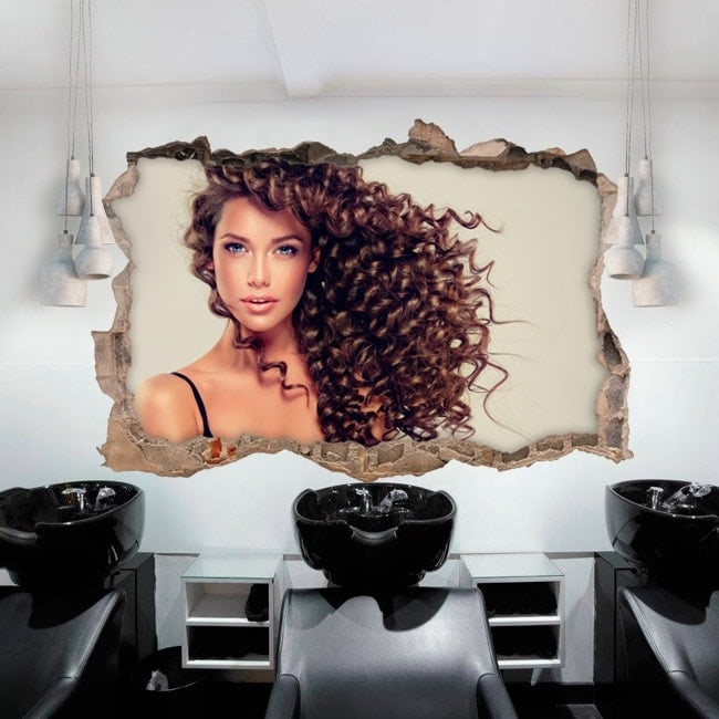 Wall stickers hairdresser with style 3D