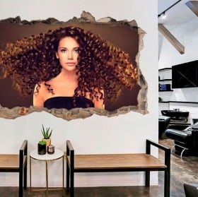 Wall stickers for hairdressers with style 3D