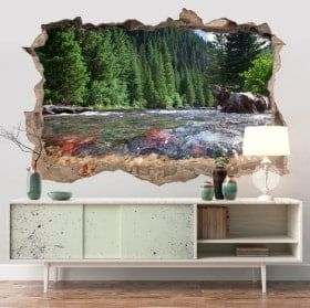 Walls stickers Colorado mountains river 3D