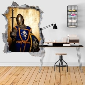 Medieval warrior wall stickers 3D