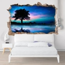 Wall stickers nature night magic 3d