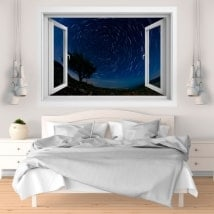Window vinyl 3D moving stars