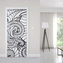 Vinyls for doors abstract lines