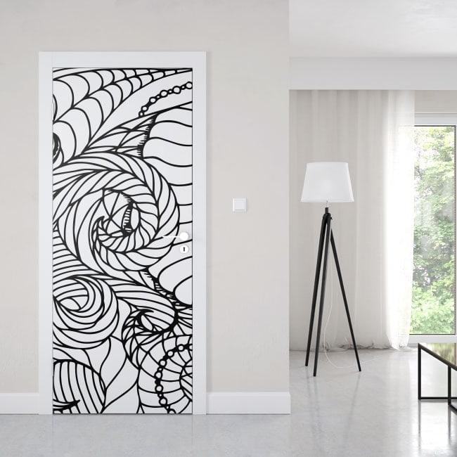 Vinyls for doors abstract lines