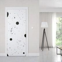 Door vinyl paint splash