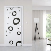 Vinyl for door retro strokes
