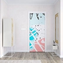 Decals doors tropical colors