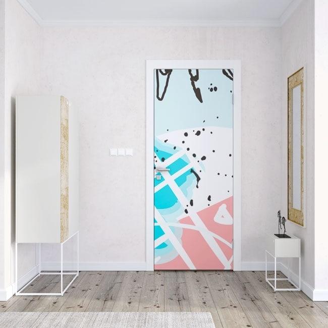 Decals doors tropical colors