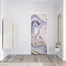 Vinyl decoration doors marble colors