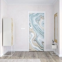 Vinyls for doors marble colors