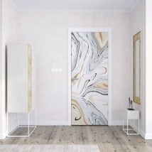 Decorative vinyl for doors marble