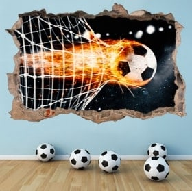 3D soccer goal decoration stickers