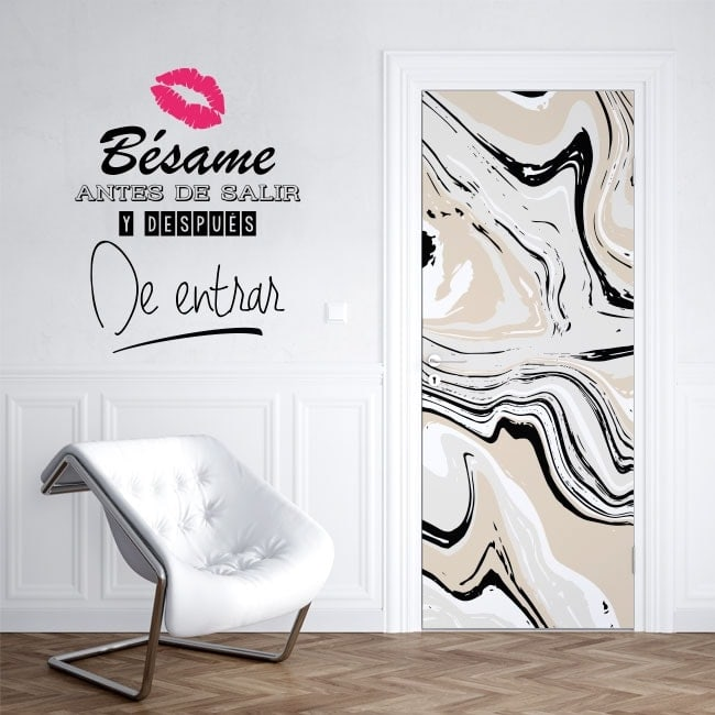 Wall stickers phrases kiss me before you go out