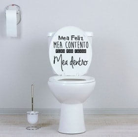Vinyls for toilets and walls happy piss phrase