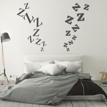 Stickers headboards zeta letters
