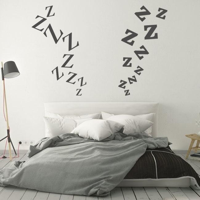 Stickers headboards zeta letters