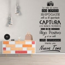 Wall Decals life is like a camera