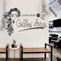 Hairdressing stickers licensed in fine arts
