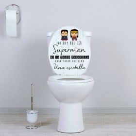 Vinyls for bathrooms and toilets superheroes
