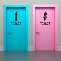 Vinyls signage for bathrooms and toilets
