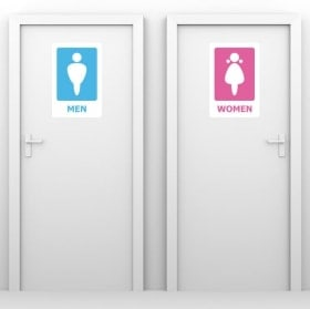 Decorative vinyl signage toilets