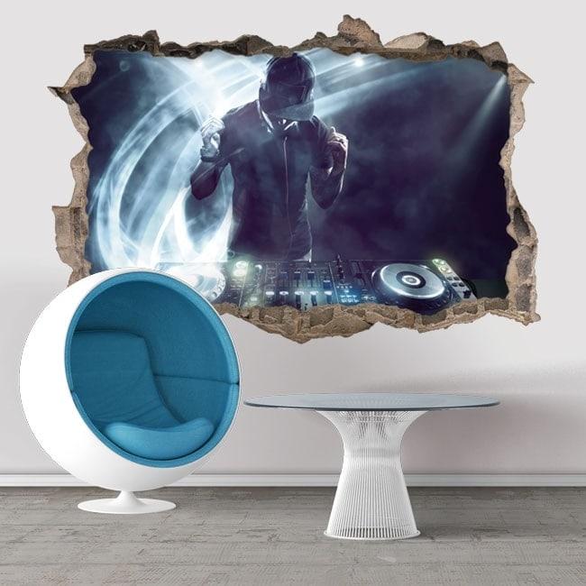 Wall stickers DJ 3D