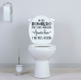Vinyls for bathrooms and toilets you are not a firefighter