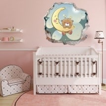 Children's vinyls bear sweet dreams 3D