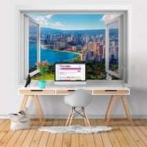3D windows vinyl Honolulu Hawaii beaches