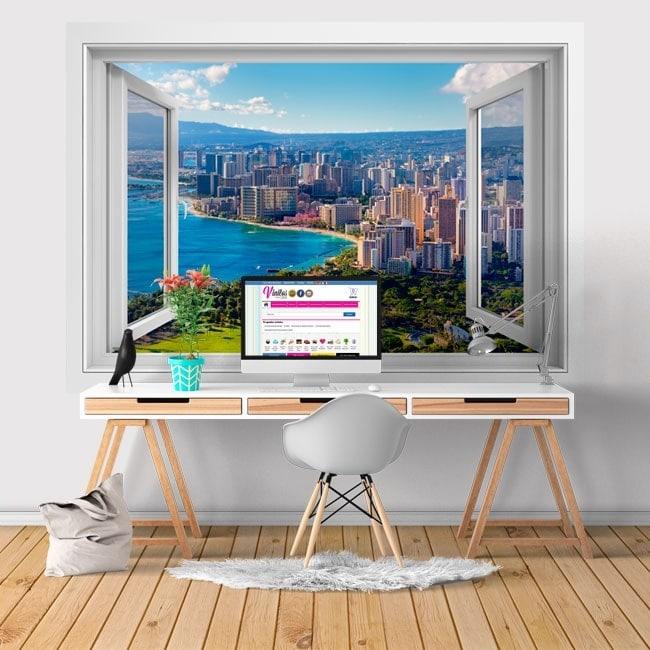 3D windows vinyl Honolulu Hawaii beaches