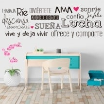 Wall stickers happy live phrases