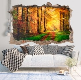 Wall stickers 3D road in the nature
