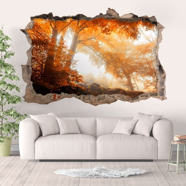 Wall stickers forest in autumn 3D