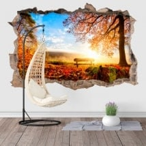 3D wall stickers sunset in the countryside