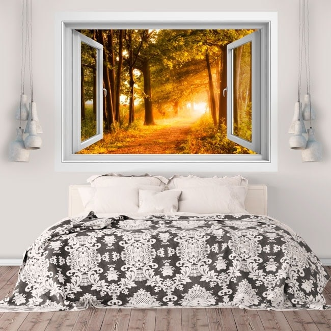 Wall stickers road in the nature 3D
