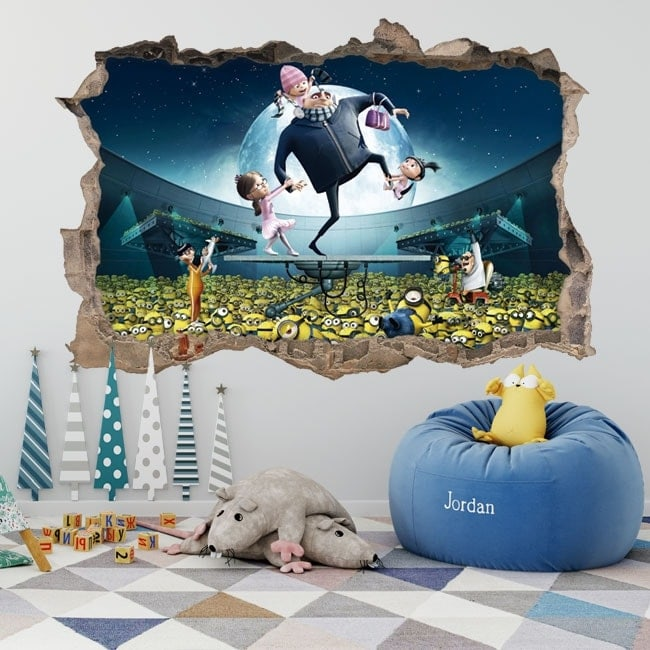 Wall stickers minions despicable me 3D