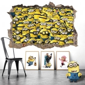 Wall Decal 3D minions
