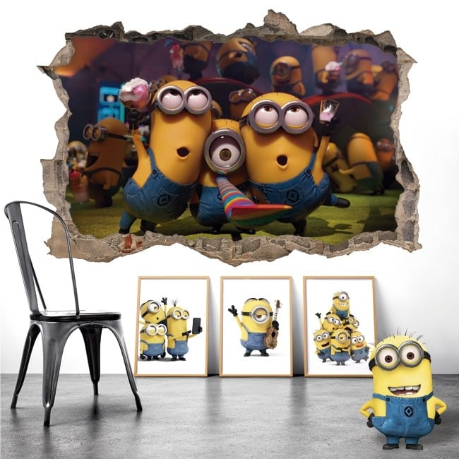 Wall stickers 3D minions party