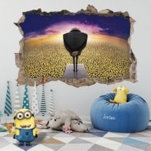 Decorative vinyl millions of minions 3D