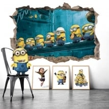 Wall stickers minions lunch in New York 3D
